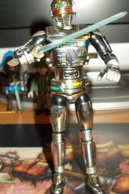 Les shérifs de l'espace : X-OR : Gavan (Gris) , Sharivan (Rouge) , Capitaine Shaider (Bleu) - Bandai 2005 - Figurine 14 cm