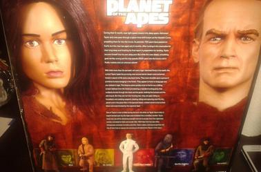 LA PLANETE DES SINGES - SLAVE TAYLOR & NOVA - figurines articulées 30 cm (sideshow 2005)