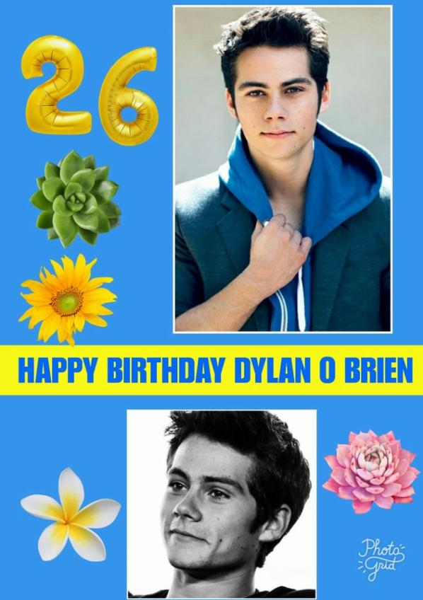 HAPPY BIRTHDAY Dylan O' Bien #HappyBirthdayDylanOBrien