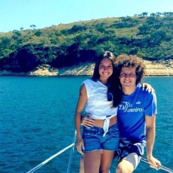 David Luiz et Sara Madeira