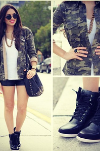 Le look militaire.