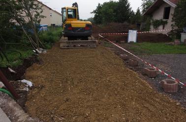 Terrassement et accès chantier