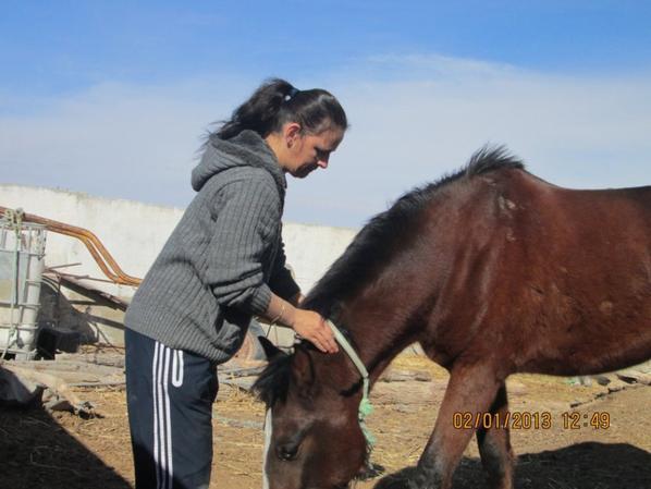 ma femme  et nos cheval