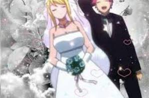 Lucy le jour de son mariage XD