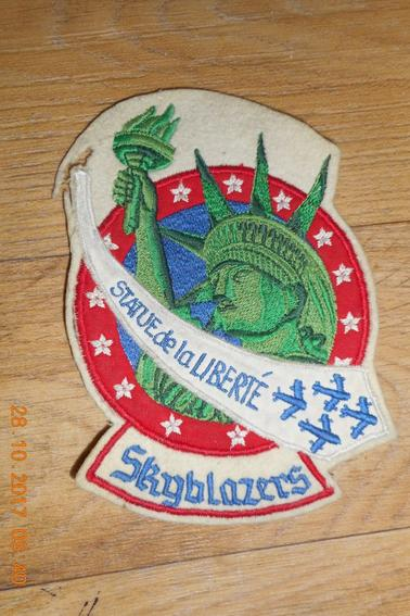 Rare 1950's 48th Fighter Bomber wing '' Statue de la liberté'' patch Skyblazers