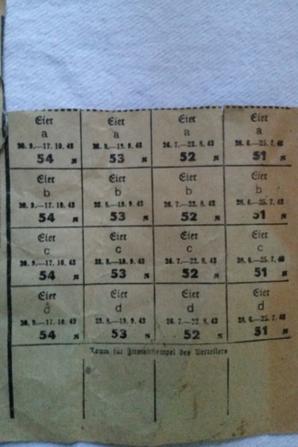 ticket de rationnement alsacien