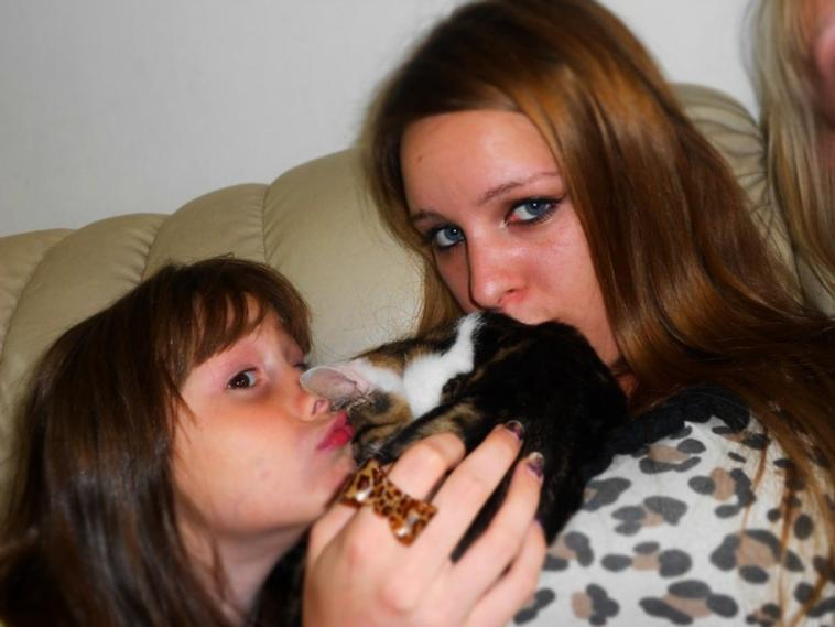 Moi et ma petite cousine élodie