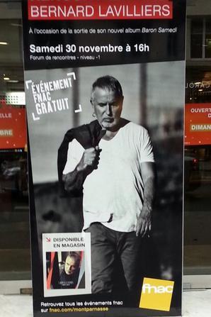 "trés grand affiche fnac montparnasse bernard lavilliers""baron samedi"""