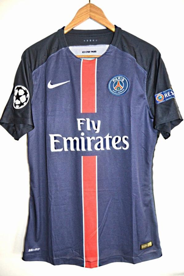 Maillot porté Champions league PSG MANCHESTER CITY 2015 2016