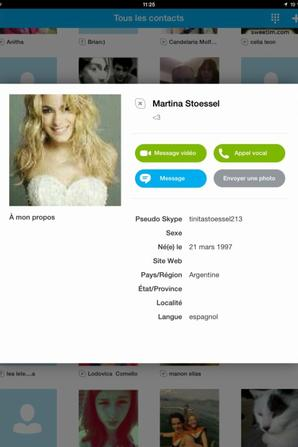 Skype de quelque star violetta