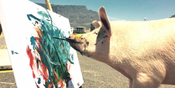 Pigcochon le cochon peintre