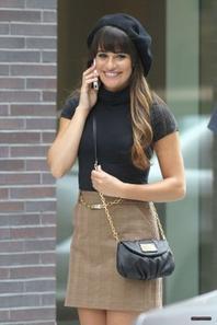 Lea Michele Lors Du Tournage De Glee part 2