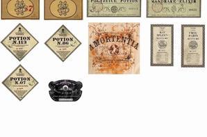 etiquettes pour potions