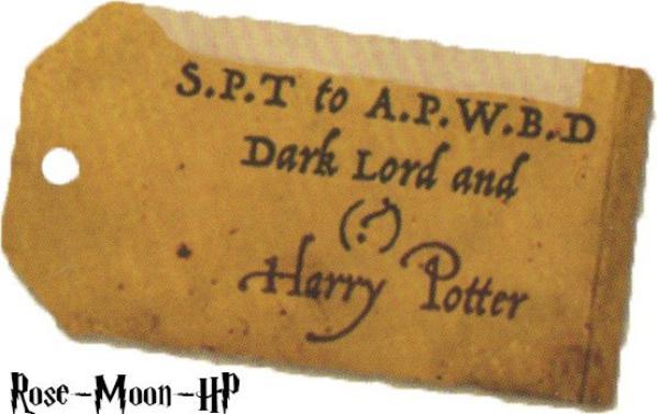 Etiquettes Harry Potter extraite du coffret ultime