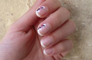 nail art sur vernis semi permanent