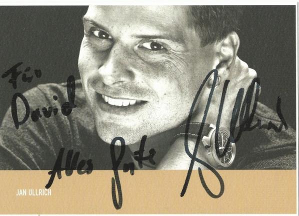 Autographe Jan Ullrich (Ex-pro 1995-2006)