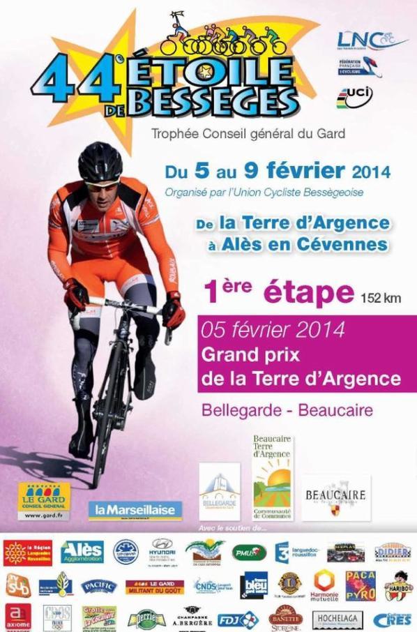 Etoile de Bessèges 2014 (1ere étape) : Grand Prix de la Terre d'Argence