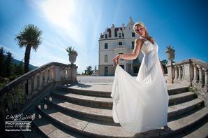 Date inconnue → Shooting photo de Christelle au Chateau Valmy à Argeles-sur-Mer.