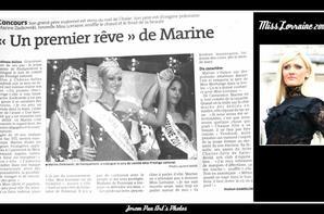 12.10.12 → Christelle était à l'élection de Miss Lorraine 2012, Marine Zielkowski à Château-Salins.