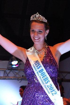 13.10.12 → Christelle était à l'élection de Miss Franche-Comté 2012, Amandine Guyon à Poligny.