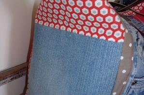 Nouveau Sac jean de recup / coton / simili modèle unique