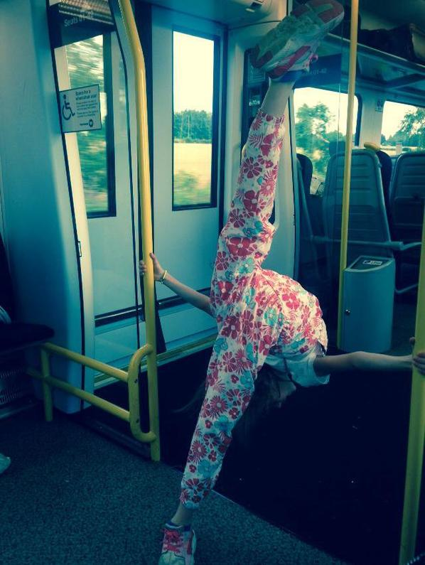 Gym dans le train lol