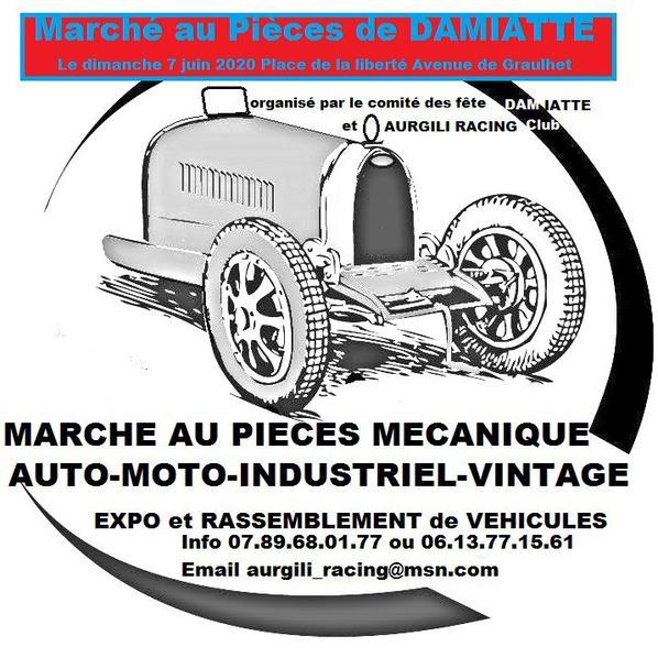 Marché au Pièces de Damiatte le dimanche 7 juin 2020