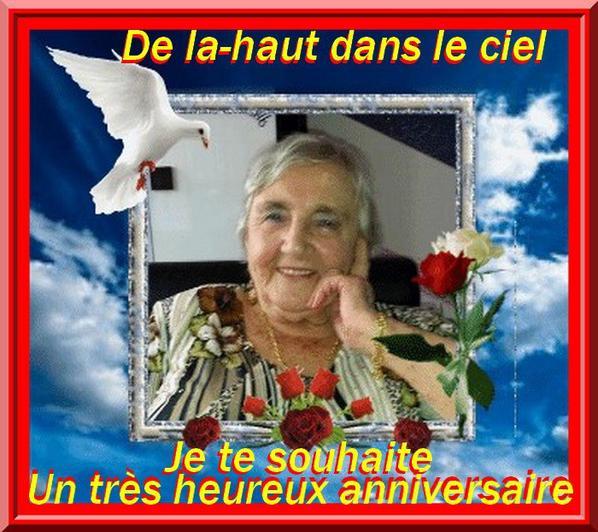 Heureux anniversaire MAMAN je t'aime