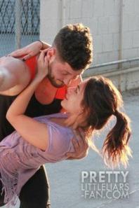 Janel Parrish et son partenaire de danse