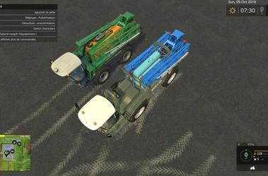 FS15:  Sprayer BERTHOUD RAPTOR FC cabine avancé ascensionnelle,