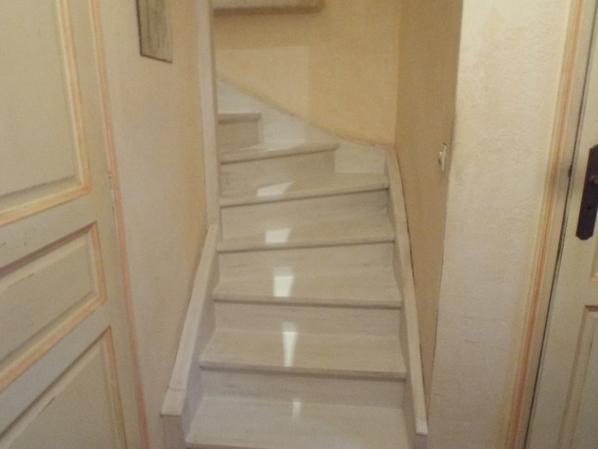 escalier couleur craie patine marron effet bross jennydeco62 douai arras cambrai. Black Bedroom Furniture Sets. Home Design Ideas