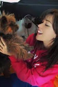 elsa esnoult et son chien