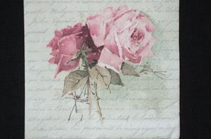 lampe de chevet shabby chic, les roses