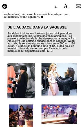 Interview de Shy'm dans le magazine GALA du 11 novembre 2013.