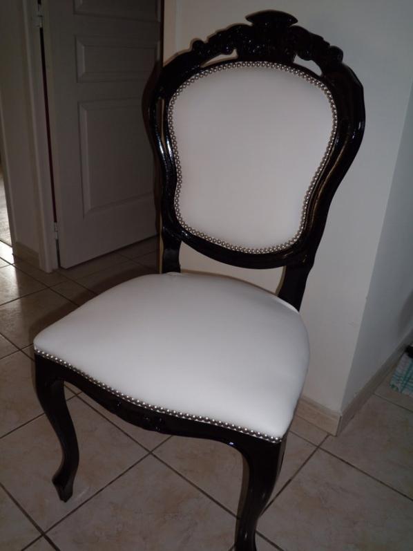 Chaise Baroque Noir Et Blanc