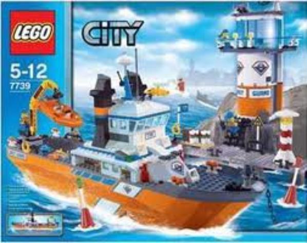 lego 7739 le bateau et la tour de contrle des garde ctes - Lego City Bateau