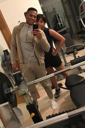 Antonio Valencia & sa fille