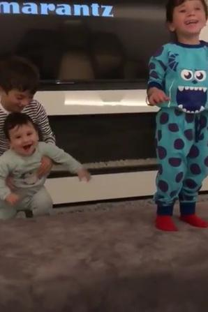 Thiago, Mateo & Ciro Messi