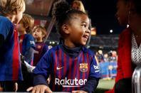 Famille Semedo au Camp Nou