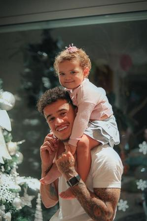 Philipe Coutinho & ses enfants