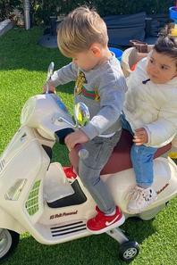 Elena Galera & ses fils Enzo & Levi