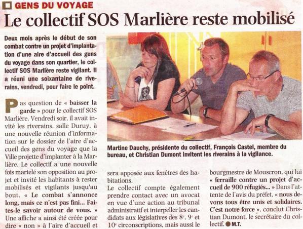 Nord Eclair / La Voix du Nord – 03.06.2012