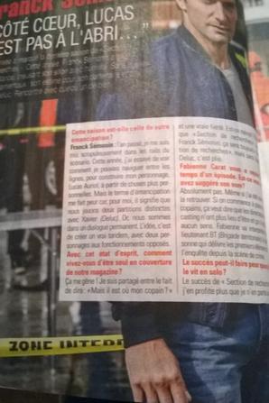 Interview de Franck Sémonin dans Télé Poche
