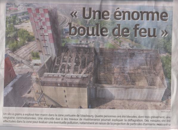 Explosion d'un silo à grain à Strasbourg + complément d'infos ....sans commentaires