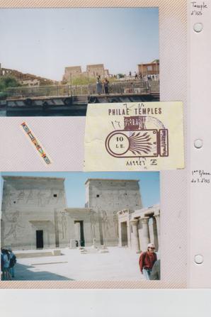 Complément pour le Kiosque de Trajan situé à 7 km au sud d'Assouan,déplacé  sur l'île Agilka.