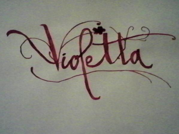 J 39 ai dessin e le logo de la s rie violetta en caligraphie - Dessiner violetta ...