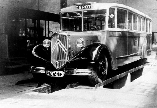 Anciens autobus Citroen des transports urbains de Caen