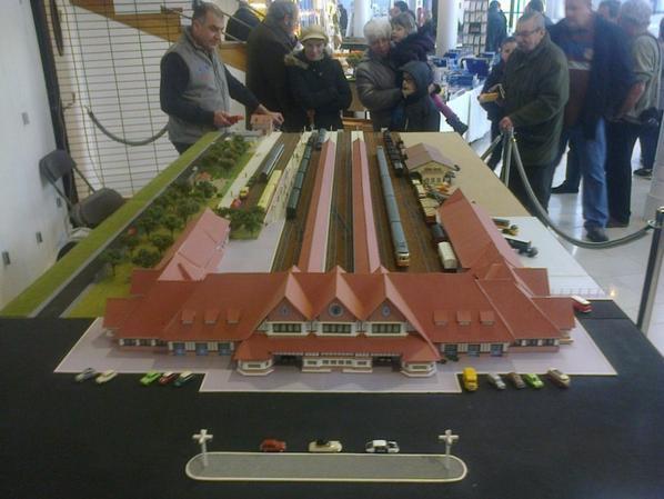 Exposition de trains miniatures à Villers-sur-Mer 2016 - Reconstitution de la gare de Trouville Deauville