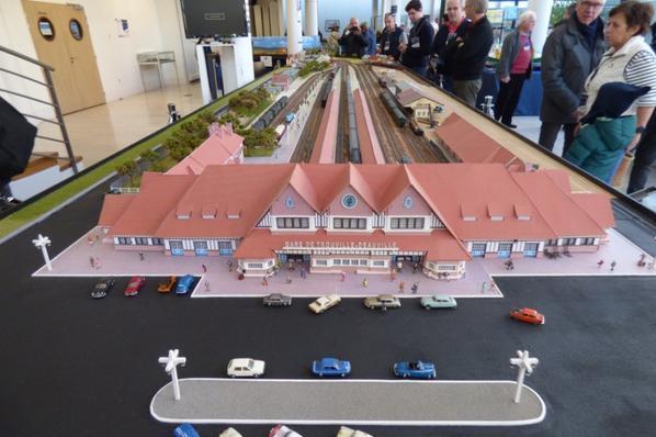 Exposition de trains miniatures à Villers-sur-Mer 2019 - Reconstitution de la gare de Trouville Deauville