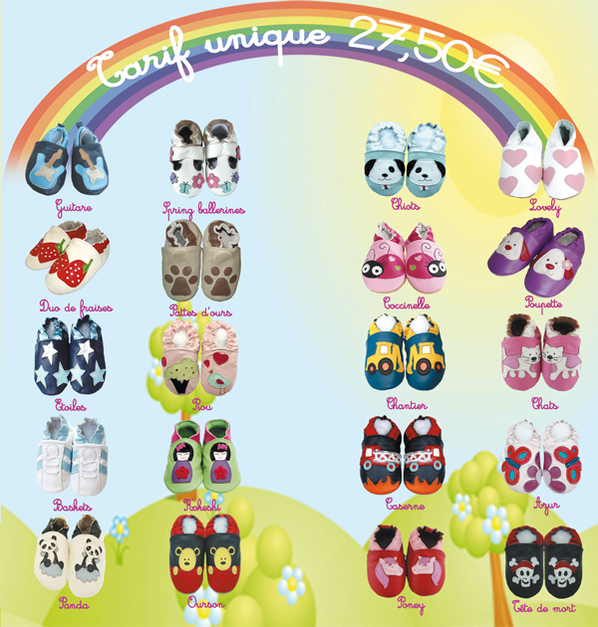 Nos modeles de chaussons et chaussures !